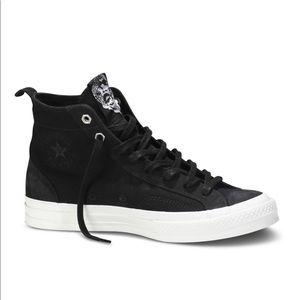 Chaz Bojorquez x Converse black fabric suede shoe